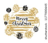 hand drawn christmas card with...   Shutterstock .eps vector #1177000645