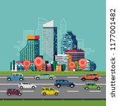 cool vector background on urban ... | Shutterstock .eps vector #1177001482
