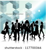 template of a group of business ... | Shutterstock .eps vector #117700366