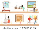 cartoon characters people... | Shutterstock .eps vector #1177019185