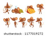 set of cartoon mouse character... | Shutterstock .eps vector #1177019272
