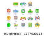 game gadget collection in line... | Shutterstock .eps vector #1177020115