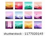 set of minimalistic flat... | Shutterstock .eps vector #1177020145