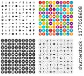 100 medal icons set in 4... | Shutterstock . vector #1177028608