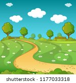 landscape concept. cartoon... | Shutterstock . vector #1177033318