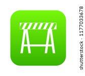 traffic barrier icon digital... | Shutterstock . vector #1177033678