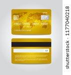 credit card template design.... | Shutterstock .eps vector #1177040218