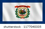 west virginia us state flag...   Shutterstock .eps vector #1177040335