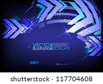arrow blue background with... | Shutterstock .eps vector #117704608