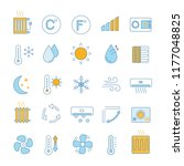 air conditioning color icons... | Shutterstock .eps vector #1177048825
