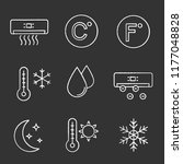air conditioning chalk icons... | Shutterstock .eps vector #1177048828