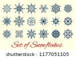 set of snowflakes  elegant... | Shutterstock .eps vector #1177051105