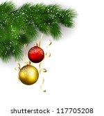 christmas decoration | Shutterstock .eps vector #117705208