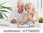 portrait of senior... | Shutterstock . vector #1177060252