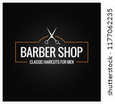 barber shop logo with barber...   Shutterstock .eps vector #1177062235