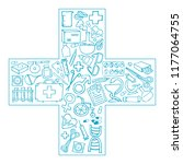 medical symbol   cross. the... | Shutterstock .eps vector #1177064755