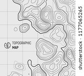 topographic map lines  contour... | Shutterstock .eps vector #1177065265