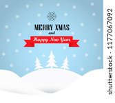 cute winter holiday background... | Shutterstock .eps vector #1177067092