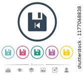 file previous flat color icons... | Shutterstock .eps vector #1177068838