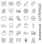 thin line vector icon set  ... | Shutterstock .eps vector #1177070122