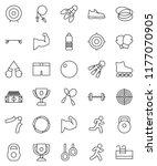 thin line vector icon set  ... | Shutterstock .eps vector #1177070905