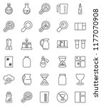 thin line vector icon set  ... | Shutterstock .eps vector #1177070908