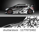 car wrap graphic vector.... | Shutterstock .eps vector #1177072402