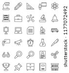 thin line vector icon set  ... | Shutterstock .eps vector #1177072492