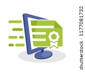 vector illustration icon with... | Shutterstock .eps vector #1177081732