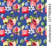 seamless pattern with original...   Shutterstock . vector #1177083862