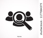 magnifier people icon | Shutterstock .eps vector #1177084375