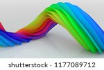 bright colorful curved twisted... | Shutterstock . vector #1177089712