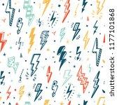 lightning bolts vector seamless ... | Shutterstock .eps vector #1177101868