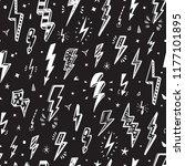 lightning bolts vector seamless ... | Shutterstock .eps vector #1177101895