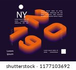 2019 colored . banner with 2019 ... | Shutterstock .eps vector #1177103692