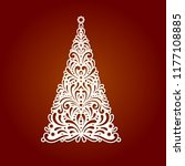 christmas tree  template for... | Shutterstock .eps vector #1177108885