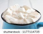 hot cocoa with marshmallow... | Shutterstock . vector #1177114735