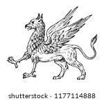 mythological animals. mythical... | Shutterstock .eps vector #1177114888