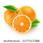 isolated oranges. three orange... | Shutterstock . vector #1177117588