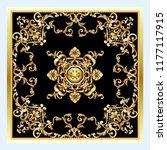 design scarf with golden... | Shutterstock .eps vector #1177117915