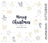 christmas icon elements card... | Shutterstock .eps vector #1177128535