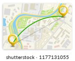 city map navigation route ... | Shutterstock .eps vector #1177131055