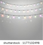 christmas lights isolated... | Shutterstock .eps vector #1177132498