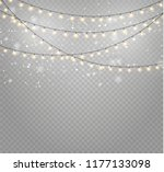 christmas lights isolated... | Shutterstock .eps vector #1177133098