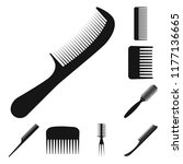 isolated object of brush and... | Shutterstock .eps vector #1177136665