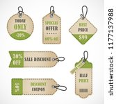 vector stickers  price tag ...   Shutterstock .eps vector #1177137988