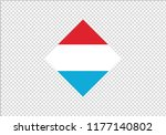 Luxembourg national flag diamond shape state symbol