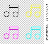simple music note. linear icon  ...   Shutterstock .eps vector #1177143775