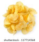 potato chips isolated | Shutterstock . vector #117714568
