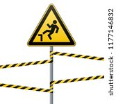 caution  possible fall from... | Shutterstock .eps vector #1177146832